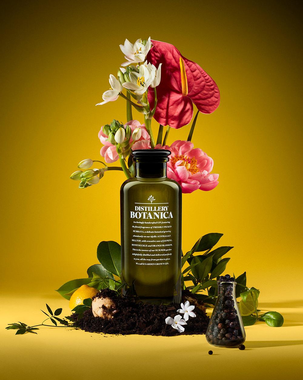 botanica floral gin studio still life advert