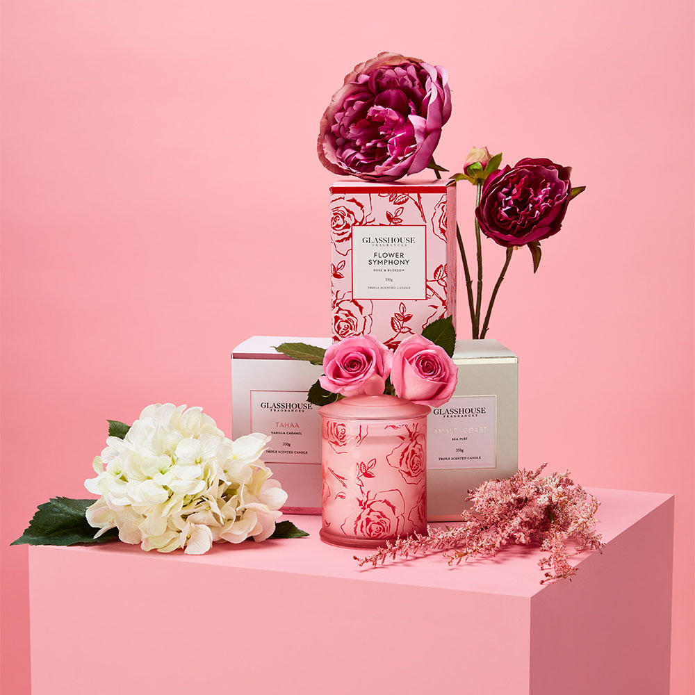mothers day pink floral still life shot at wow studios melbourne