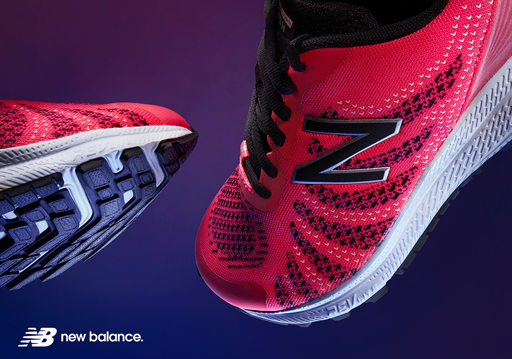 new balance trainer advert shot in studio at wow pictures