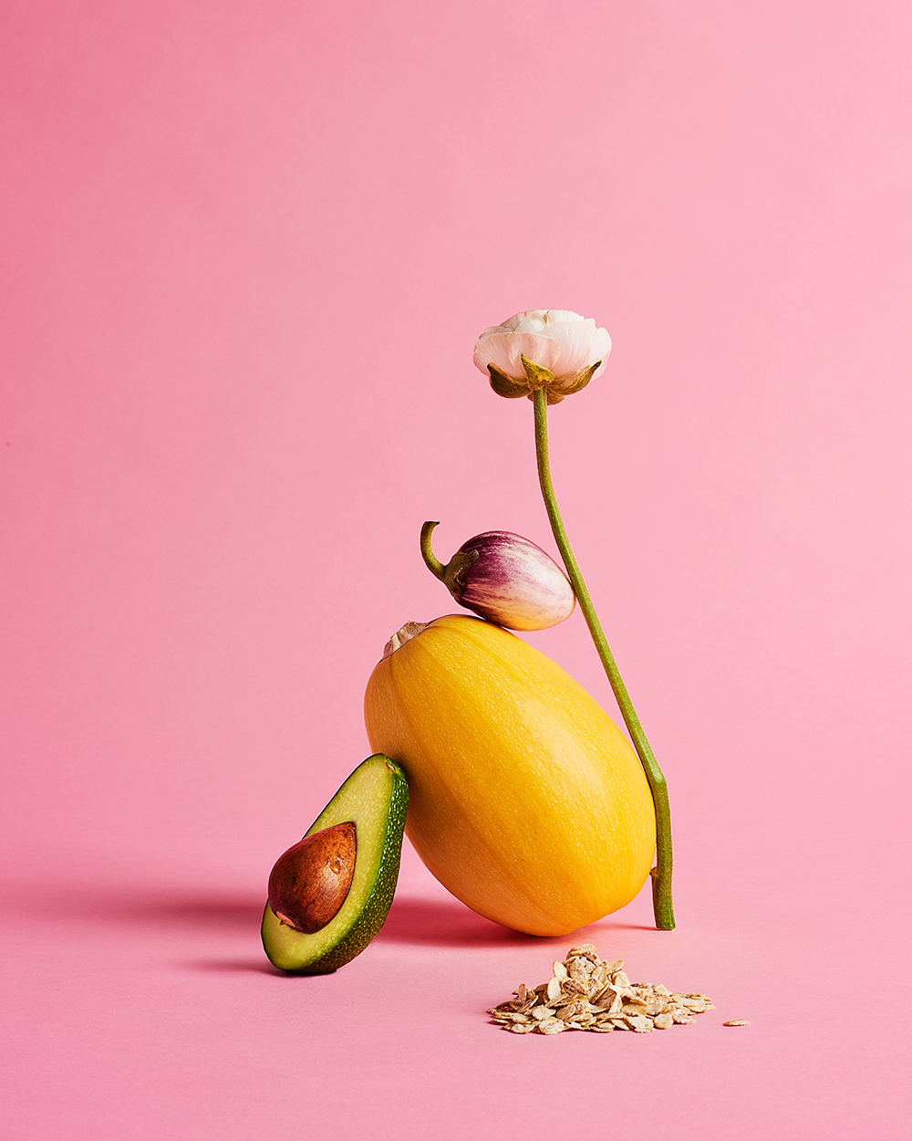 conceptual pink vegetable still life styled by Ray Chaisiwamongkhon