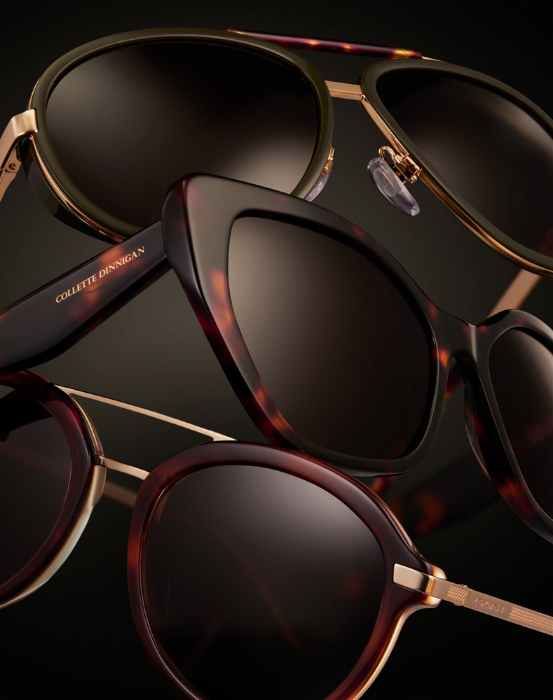 stacked sunglasses creative still life for specsavers by kirsty owen
