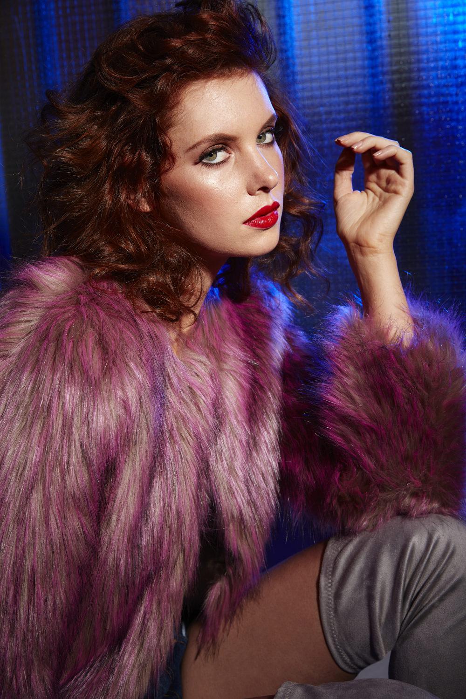 unreal fur styled campaign stills shot in studio