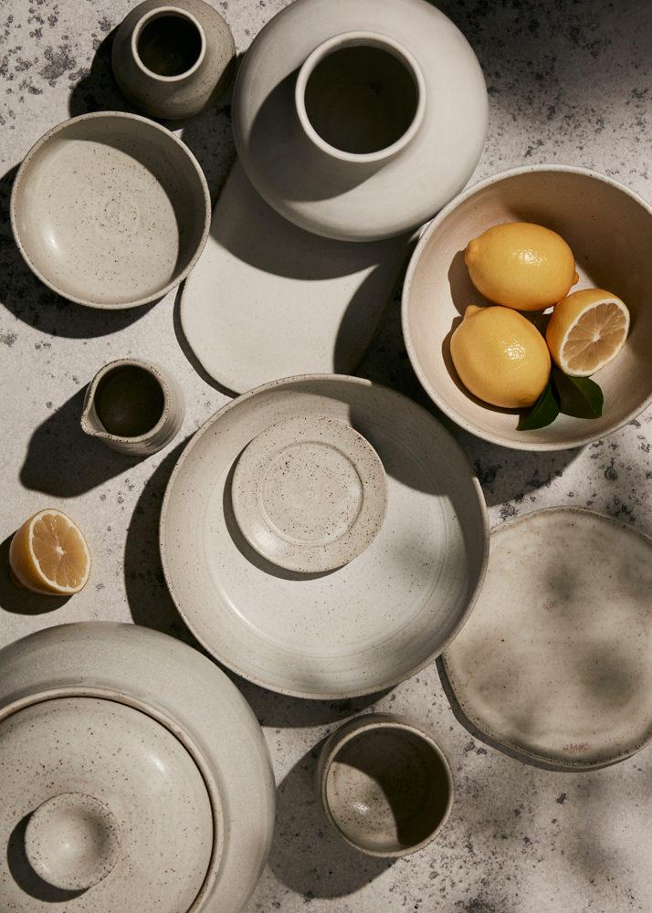 creative mixed handmade pottery editorial melbourne